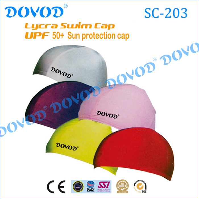 Chinese Manufacturer Nude Fabric Lycra Swimming Cap