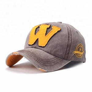 "[SMOLDER] China suppliers custom letter ""W"" casual cotton worn-out washed custom embroidered dad snapback cap hat cap golf"