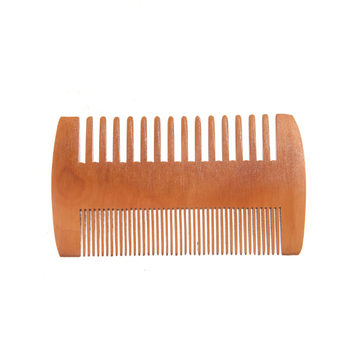 OEM adult men's grooming tool custom logo home travel pocket gift wooden massage hair barber beard comb