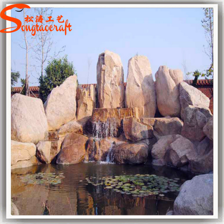 Factory design Stylize artificial large river slate rock stones white rocks landscaping