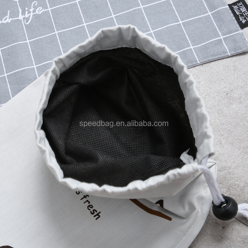Storage bag portable potato vegetable fabric drawstring bag cotton zipper strorage pouch kitchen organiz packing bag