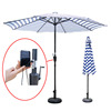 promotional 3 meter solar power charger usb outdoor umbrella with led light