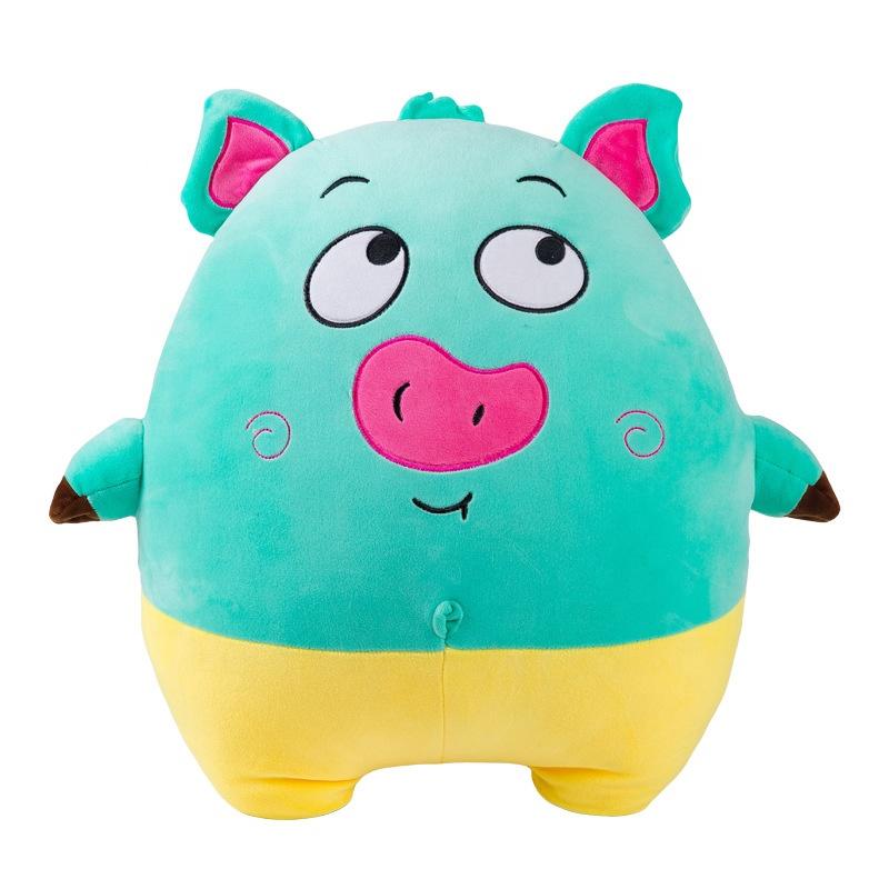 Детский подарок, персонализированная фигурка свиньи, выражение свиньи, плюшевая игрушечная Подушка, хлопковая Подушка свиньи