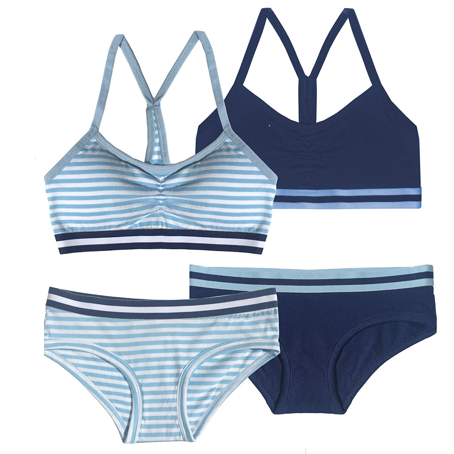 Get Quotations · Popular Girls Matching Cotton Racerback Bra and Underwear  Sets (2 sets) 12f589790