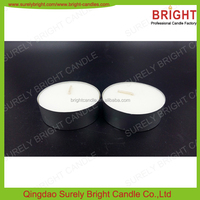 flameless tea light candles in alum cup,candles unscented white