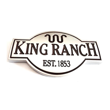 ABS Matte Silver King Ranch Auto Emblem Badge Logo