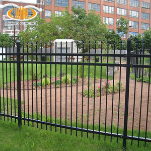 Galvanized powder coated black fusion welded forged front steel fence