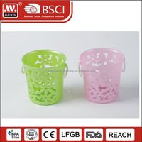 Wholesale Bathroom Cheap Fancy Round Utility Gift Basket Plastic Corner Storage Small Baskets with Handles