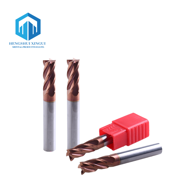 CNC Solid <strong>Carbide</strong> 4 Flutes End Mills Square Flat Wood Milling Cutter