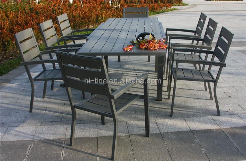 Alluminio mobili polywood estensione tavoli e sedie set di mobili da esterno attrezzi da - Tavoli e sedie da esterno ...
