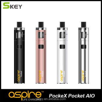 2017 Good cheap small vape mods Aspire Pockex Pocket AIO with 2ml tank