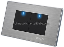 ISO and CE certification of eu sell like hot cakes 2 gang 1 way wall switch
