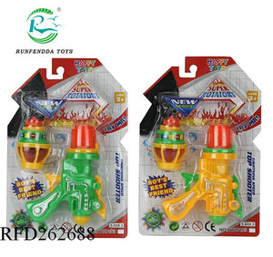 New arrival outdoor cheap plastic toy ufo gyro guns