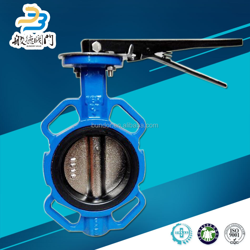 Anti corrosion oil gas and water ggg40 ggg50 wafer 12 butterfly valve