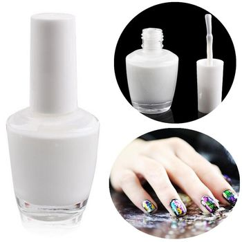 15ml Nail Art White Star Glue Foils Transfer Tips Adhesive Uv Gel Polish Decoration Sticker