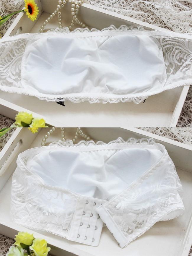 underwear Women Lady Sexy Lace Tube Top Blouse Bandeau Underwear Stylish  Panty Lingerie Briefs Underpants Bra b4de378e9