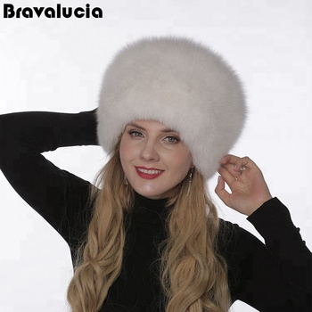 a2d245bd9 Woman Fashion Fox Faux Fur Russian Hats With Satin Lining Round Top Unisex  White Fox Fur Hat - Buy Winter Fur Hats,Women Full Fur Hat,White Fox Fur ...