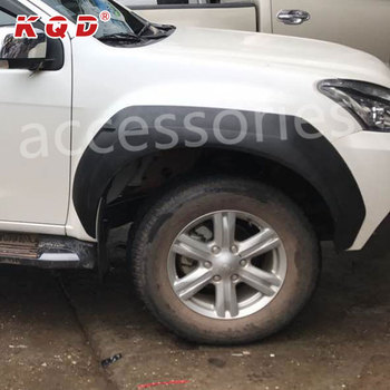 China Factory Design ABS Plastic injection wheel fender flare for mux 2013~on mux accessories