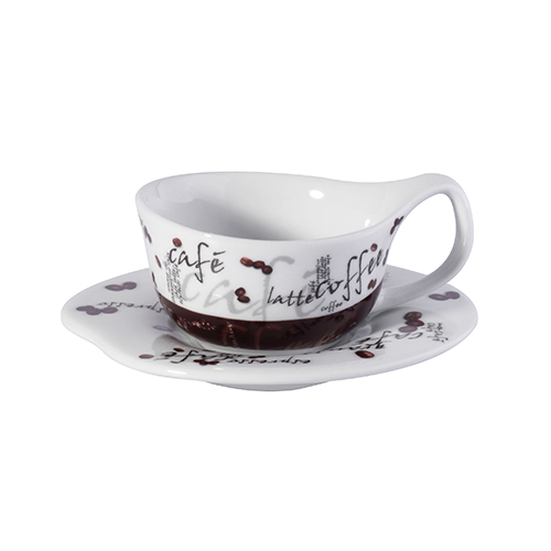 80ml Porcelain Coffee Cup With Saucer