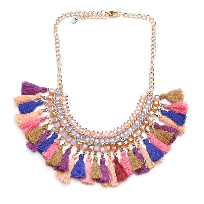 purple silk trendy jayanthi thread necklace