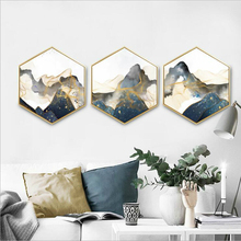 Hexagon new Chinese decorative painting, abstract indoor paintings