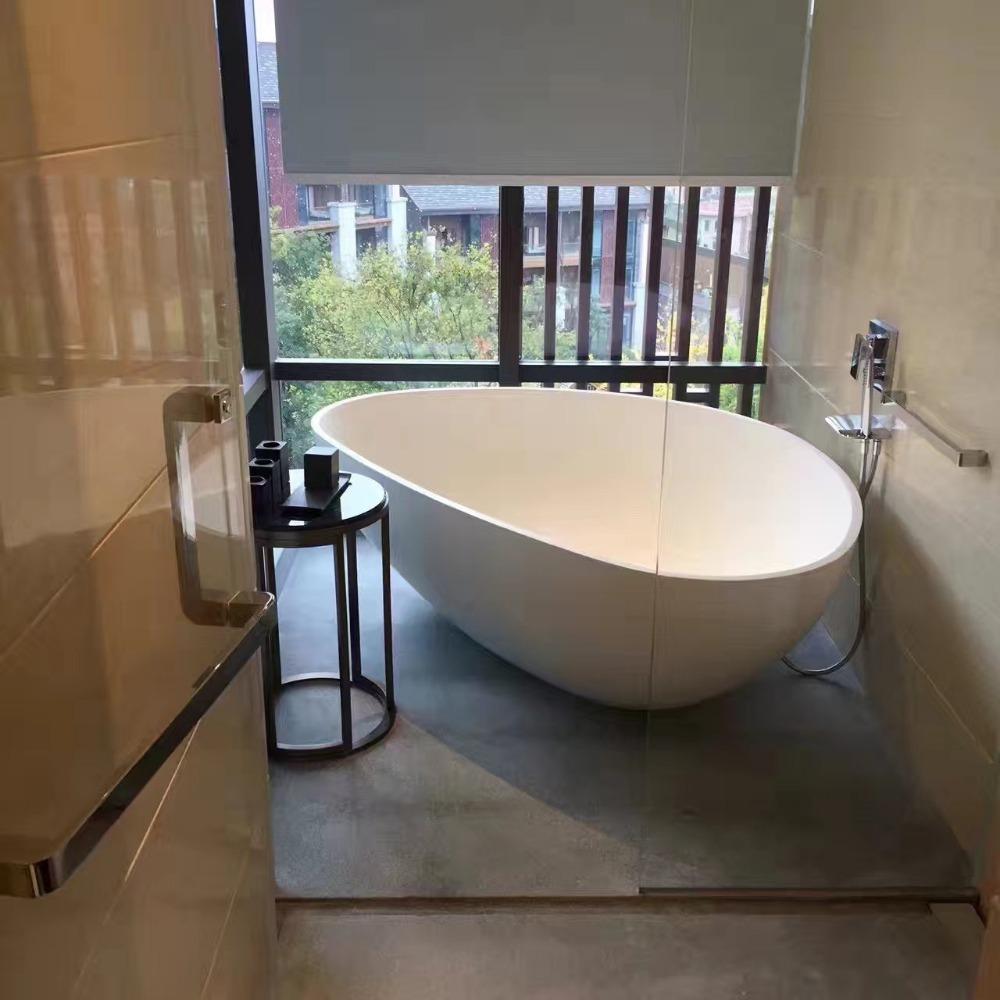 Triangle Shape Two Person Freestanding Terrazzo Bathtub Sizes In ...