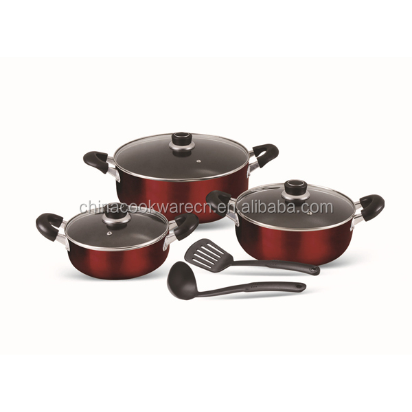 8PCS Prestige Polished Aluminum Non-stick Cookware Set