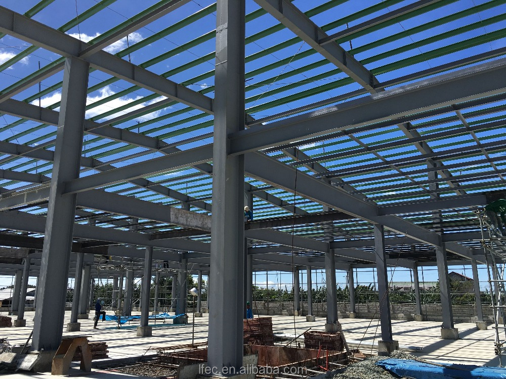 Light heavy steel structure manufactures for workshop warehouse steel frame space frame steel structure in China