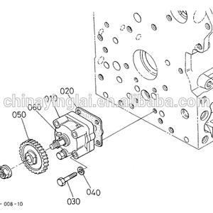 for kubota diesel engine v2003 gear oil pump drive 1920235660 19202 3566 0 Kymco Engine Diagram