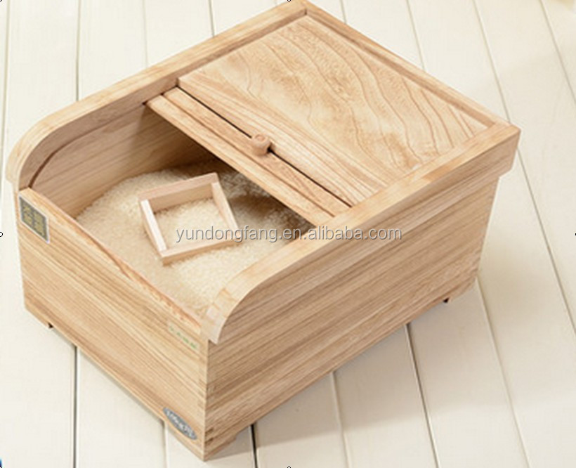 2015 New Design Eco-friendly Unfinished Wooden Rice Box