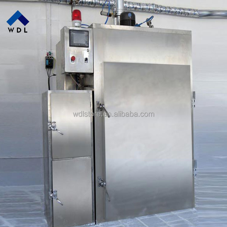 Industrial automatic sausage smoking oven / oven for making smoked fish,chicken,meat,sausage,pork,salami,duck ,food