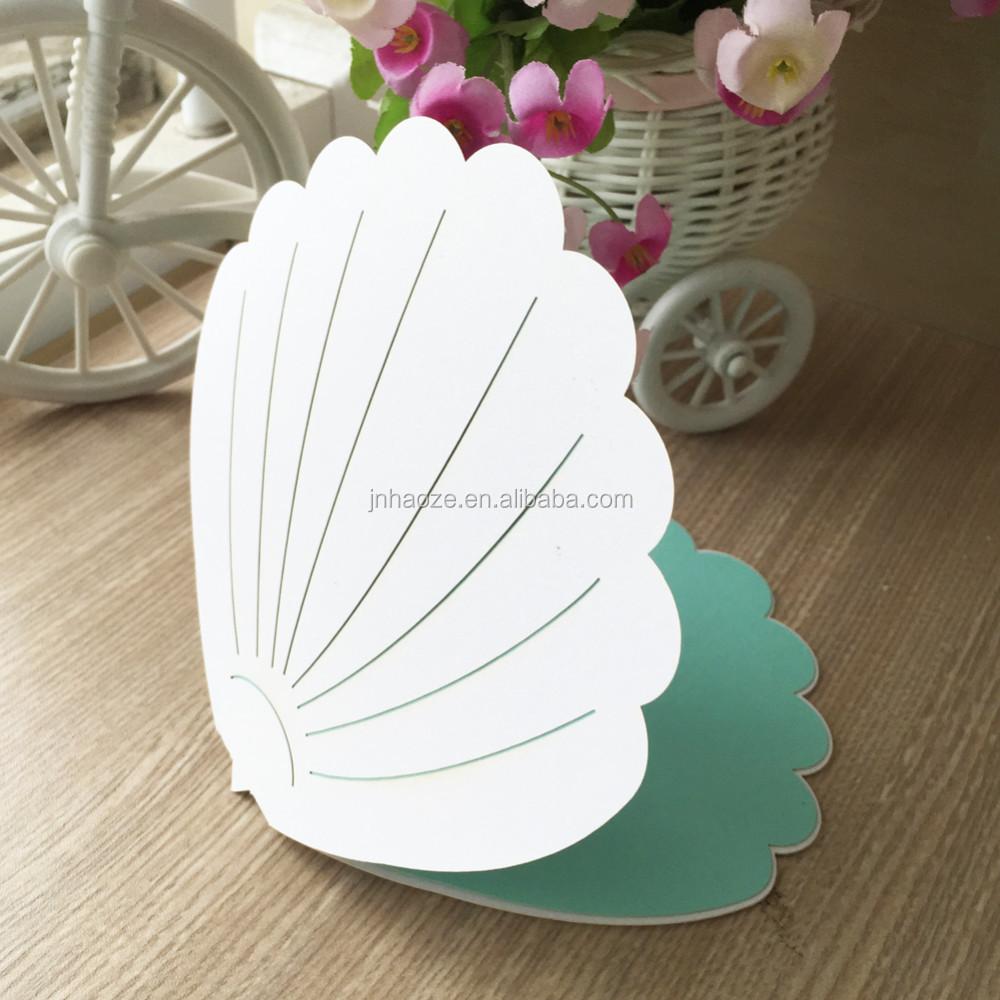 Shell Shape Custom Wedding Invitation Design Cards ...  Shell Shape Cus...