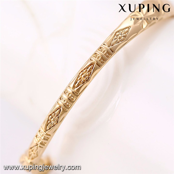 51575 Xuping new design wholesale 18k gold color baby bangles