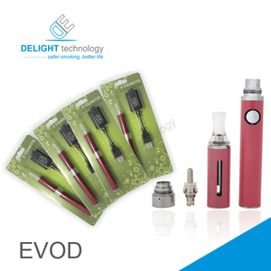 Wholesale Electronic cigarette 650mah/900mah/1100mah evod blister kit 2.4ml capacity evod mt3 blister kit ecig