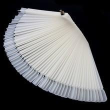 1 Set 50 Pcs New DIY Gel Hot Sale Folding Fan Type Nail Color Palette Manicure