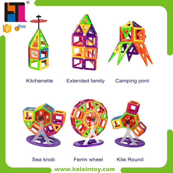 2015 Hot Sale ABS Plastic Construction And Educational Toy magnetic building blocks for kids