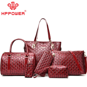 Hot sale cheap vietnam formal quilted luxury leather channel bags and wallet 6 pieces set handbags for women