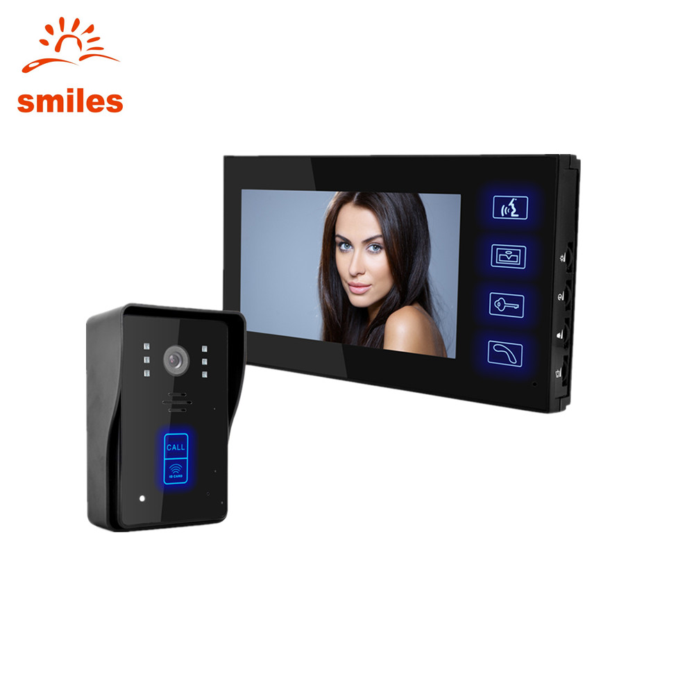 "Luxury Household Security Video Doorbell Camera Intercom 7"" Colorful LCD Screen"