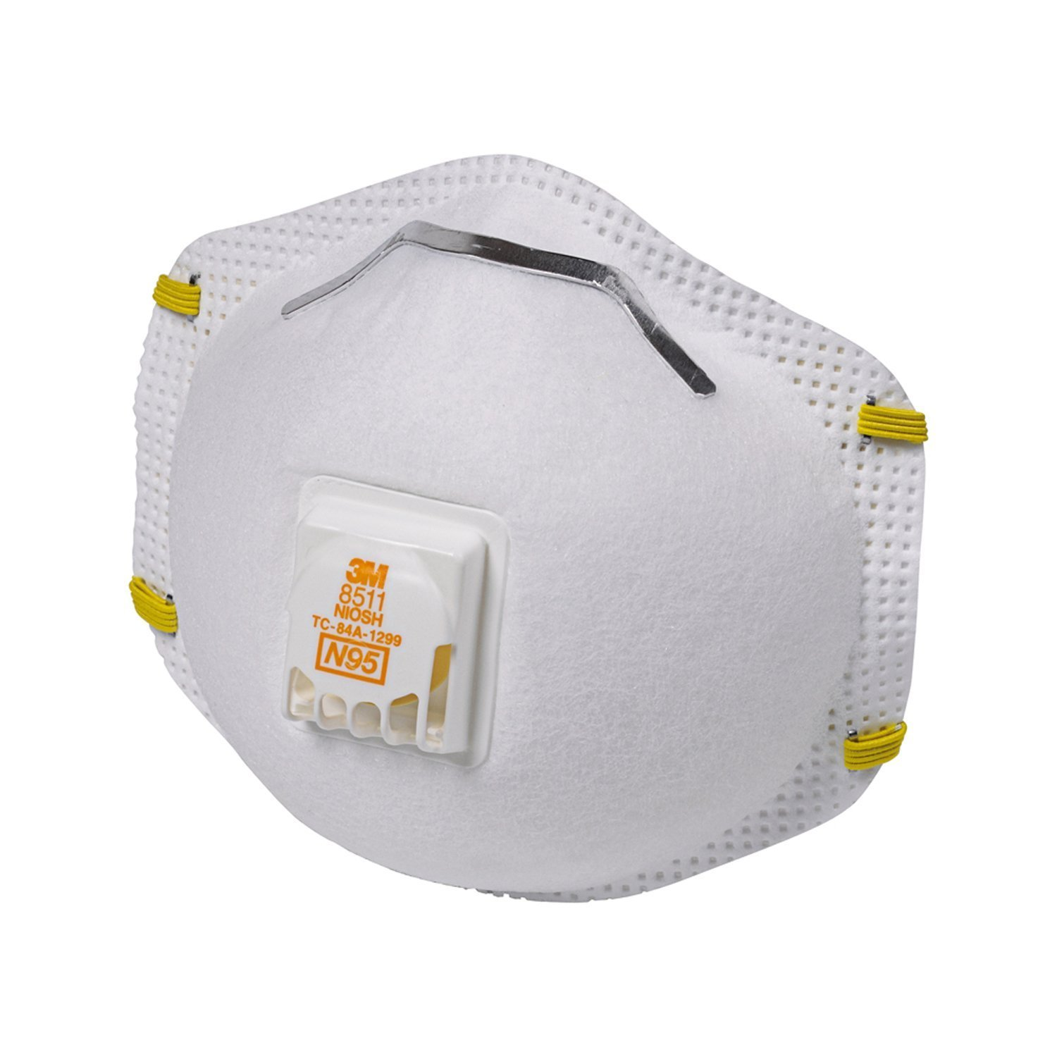 80 Pcs 3m 8511 Particulate Sanding Respirator N95 with Valve, (1-case of 8-boxes)