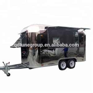 Top quality airstream stainless steel truck street mobile food kiosk cart trailer