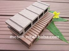 high strength/classic groove wood plastic composite hollow decking timber