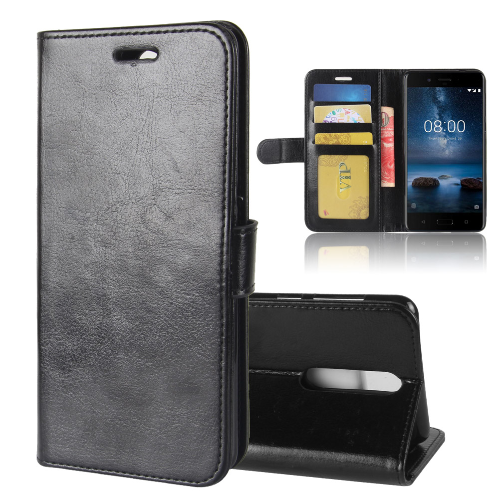 best sneakers 6c419 21487 Luxury Crazy Horse Leather Flip Wallet Case For Nokia 8 Case Cover Tpu Pu -  Buy Wallet Case For Nokia 8,Flip Case For Nokia 8,Leather Case For Nokia 8  ...