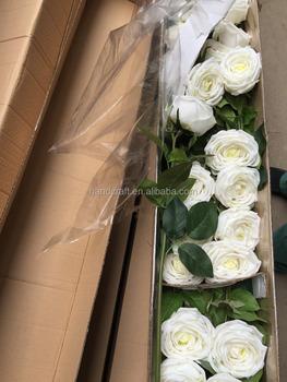 Blanc Artificiel Rose Fleur A Tige Unique Pour La Decoration De
