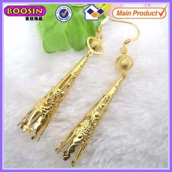 2014 Fashion Long Hanging Dubai Gold Jewelry Earring 2755 Buy