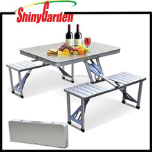 Small Portable Folding Suitcase Table with 4 Chairs for Outdoor Picnic Camping