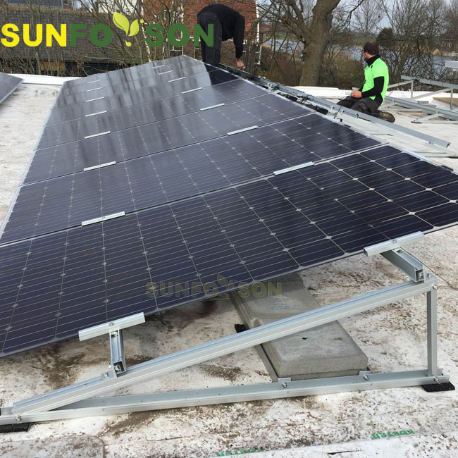 Roof mounted solar mounting system for home solar power installation