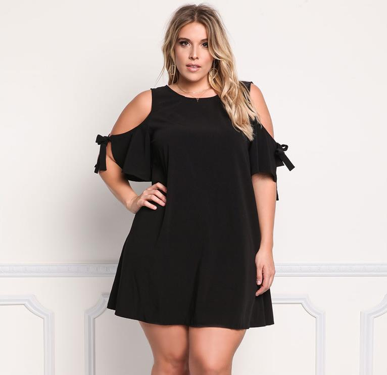 cfc753386 Moda de verano xxxl de gran tamaño vestido para las mujeres gordas de  hombro plus tamaño