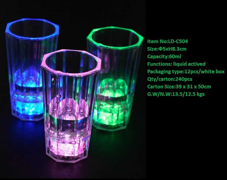 High Quality Party Decoration Plastic Cup With Lights/liquid ...