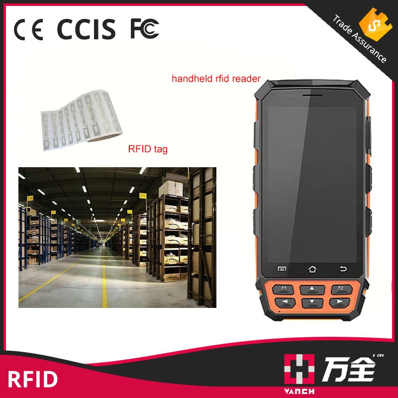 Rugged 5 Inch Android Handheld Animal UHF RFID Card Reader