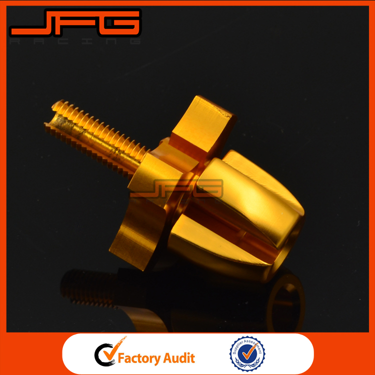 Gold Universal Billet M8X1.25 Clutch Brake Cable Wire Adjuster For Motorcycle Dirt Bike Motocross Enduro Supermoto Free Shipping